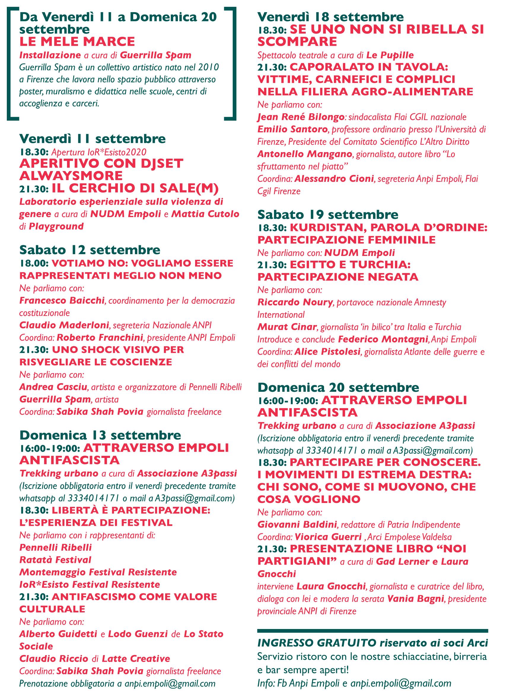 2020 Programma IoRESISTO - Flyer A5